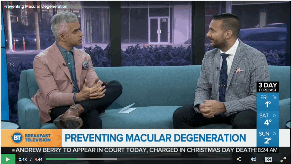 Dr. Pavan Avinashi shares tips on macular degeneration prevention